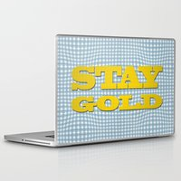 stay gold Laptop & iPad Skins featuring Stay Gold by abominable