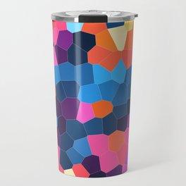Geometric Brights Travel Mug