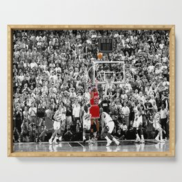 Michae-l Jordan, MJ Former American Professional Basketball Player, Bulls, Framed Print Wall Art Serving Tray