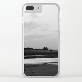 Sunset on the beach in Mediterranean Sea Clear iPhone Case