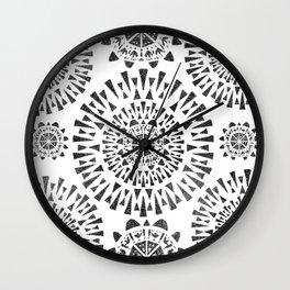 Fireworks Circles Pattern Wall Clock