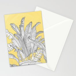 Banana Leaves Illustration - Yellow Stationery Cards