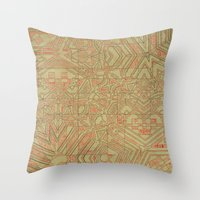 typo Throw Pillows featuring Typo by Steve W Schwartz Art