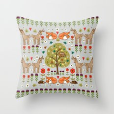 Woodland Wild Things Throw Pillow