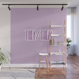 They/Them Pronouns Print Wall Mural