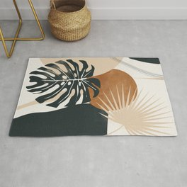 Abstract Art Tropical Leaves 7 Rug