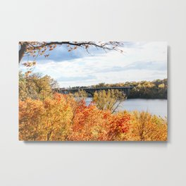 Twin Cities Mississippi River Metal Print