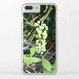 Tamed Wild Grapes Clear iPhone Case