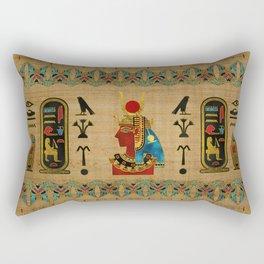 Hathor Egyptian Ornament on papyrus Rectangular Pillow