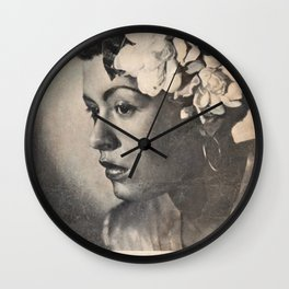 1946 Billie Holiday New York City Town Hall Concert Concert Poster Wall Clock
