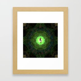 Green Tara Mantra- Protection from dangers and suffering Framed Art Print