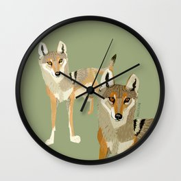 Wolves of the World: Canis lupus pallipes (c) 2017 Wall Clock