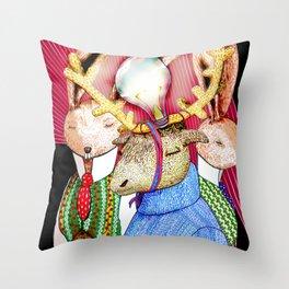 Fools' King Throw Pillow