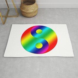 Rainbow Yin a Yang Rug