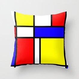 Mondrian 4 #art #mondrian #artprint Throw Pillow