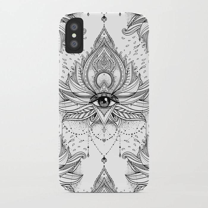 Lotus flower all seeing eye iphone case by varvaragorbash society6 lotus flower all seeing eye iphone case mightylinksfo