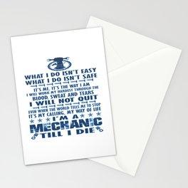 I'M A MECHANIC TILL I DIE Stationery Cards