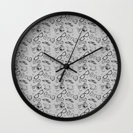 Hipster Elements Pattern Wall Clock