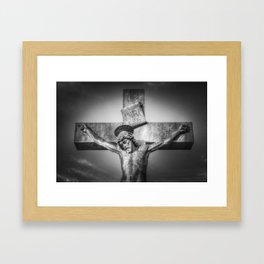 Jesus Statue Framed Art Print