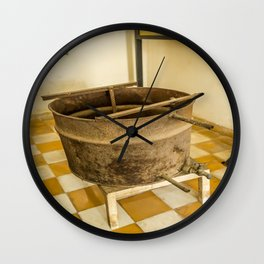 S21 Water Torture Barrel - Khmer Rouge, Cambodia Wall Clock