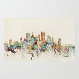 pittsburgh pennsylvania skyline Rug