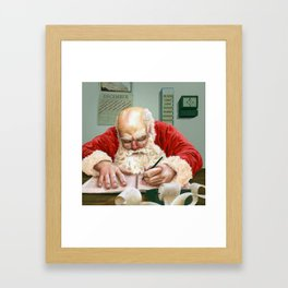 Checking It Twice Framed Art Print