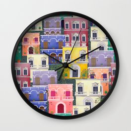 Puerto Rico architecture pattern in spring Wall Clock