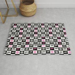 Love Typographic Concept Geometric Pattern Rug