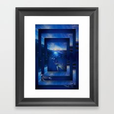 Swim the Seas Framed Art Print