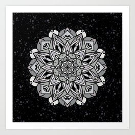 Dark Mandala Art Print