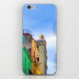 Streetview - Street and houses in Havana iPhone Skin