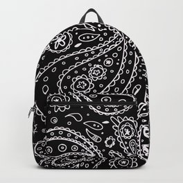 Classic Black and White Paisley Backpack