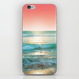 Aqua and Coral, 1 iPhone Skin
