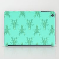 lobster iPad Cases featuring Green Lobster by The Wallpaper Files