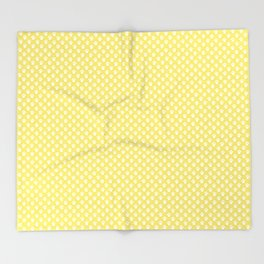 Tiny Paw Prints Lemon Yellow Pattern Throw Blanket