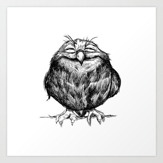 Owl Ball Art Print