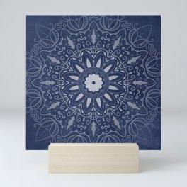 Indigo Mystique Mandala Mini Art Print