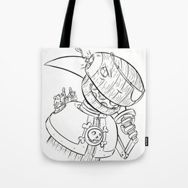 Robot Pirate - ink Tote Bag