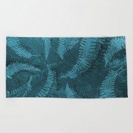 Ferns (light) abstract design Beach Towel