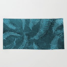 Ferns (light) abstract design Beach Towel