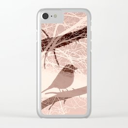 Bird tree Clear iPhone Case