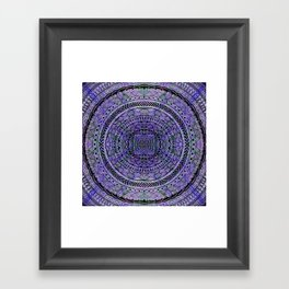 Zentangle Mandala Framed Art Print