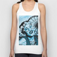 coachella Tank Tops featuring Coachella Fitzgerald by EZCO