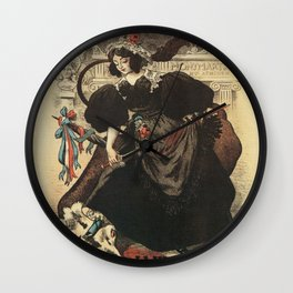 The rabid cow parade Paris 1897 Wall Clock