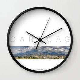 East CARACAS West Wall Clock