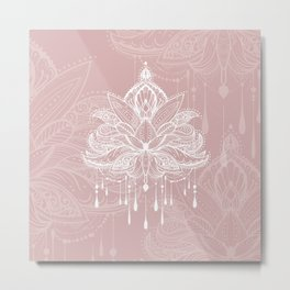 Blush mandala Metal Print