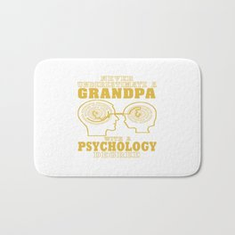 Psychology Grandpa Bath Mat