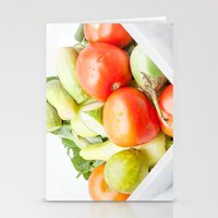 vegetables Stationery Cards featuring vegetables by Marcel Derweduwen