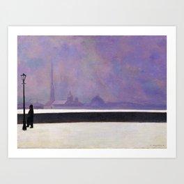 Felix Vallotton -  La Néva, Brume Légère (new color editing) Art Print