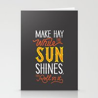 sunshine Stationery Cards featuring Sunshine by Wharton